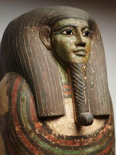 Coffin of Horankh  Egypt, Thebes, c. 700 B.C.  Wood, gesso, paint, obsidian, calcite, and bronze