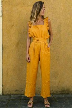 Summer Casual Rompers Jumpsuit Solid Ruffle Slim Overalls Bandage Backless Long Pants Women Jumpsuit Salopette Femme Color Black Size S Backless Jumpsuit, Casual Jumpsuit, Summer Jumpsuit, Lace Jumpsuit, Jumpsuit Outfit, Mode Outfits, Fashion Outfits, Gothic Fashion, Fashion Pants