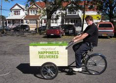 Worksman Cycles makes trikes for food vending and for general deliveries. Most of its customers are independent businesses, but some are larger national chains like gourmet food purveyor Harry and David, whose food bike is pictured above.