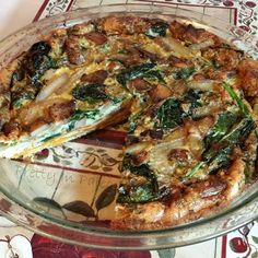 Spinach Mushroom Onion Quiche with Sweet Potato Crust | health and Beauty 4Ever
