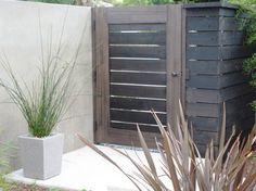Behr semi transparent 'Cordovan Brown' fence stain / debora carl landscape design contemporary landscape