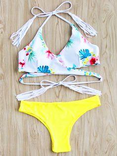 Shop Calico Print Tassel Tie Wrap Bikini Set online. SheIn offers Calico Print Tassel Tie Wrap Bikini Set & more to fit your fashionable needs.