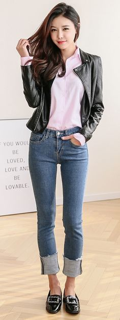 S/S Korean Women Fashion Look