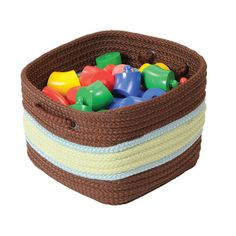 Bring the outside in with these beautiful braided baskets. Made from 100% polypropylene. Stain and fade resistant. Baskets are reversible for twice the use. May be machine-washed in cold water and laid flat to dry.