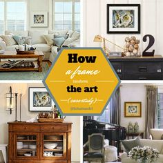 how to frame art http://schulmanart.blogspot.com/2015/04/how-frame-transforms-art.html | home decor