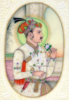 Name of the Mughal emperors from Babur to Aurangzeb. The great Mughals. Mughal Paintings, Islamic Paintings, Rajasthani Art, Humayun's Tomb, Mughal Architecture, Rain Art, Shah Alam, King Of The World, Mughal Empire