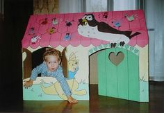 Cabane en carton de Winnie l'Ourson