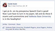 #VStateGrad from Caleb Scott on Facebook
