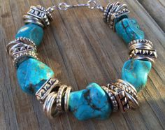 Chunky Turquoise Bracelet #turquoise #chunky #bracelet #cowtownchic
