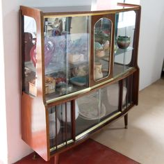 Retro Display Cabinet/ Book Case with Danish Style legs. Price includes delivery to Depot! Available @ www.moregoodstuff.co.za