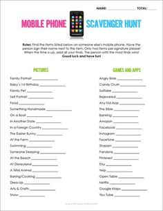 Trendy ideas ice breaker games for teens scavenger hunts Party Games Group, Large Group Games, Youth Group Games, Adult Party Games, Birthday Party Games, Adult Games, Family Games, 21st Birthday, Large Group Icebreakers