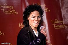 The figure of Michael Jackson at the wax museum of Madame Tussauds in Washington, DC