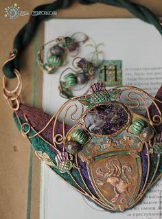 """The Thistle of old Edinburgh""  copper necklace by Julia Chernopazova"
