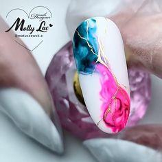 Nail Art Hacks, Nail Art Diy, Diy Acrylic Nails, Gel Nail Art, Gel Nails, Nail Art Designs Videos, Nail Art Videos, Water Color Nails, Water Nails