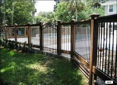 4 Unique Tricks Can Change Your Life: Sliding Fence Design iron fence around pool.Iron Fence Around Pool short fence posts. Bamboo Fence, Cedar Fence, Redwood Fence, Brick Fence, Concrete Fence, Backyard Fences, Garden Fencing, Pool Fence, Garden Shrubs