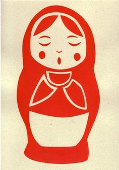 cute russian doll print