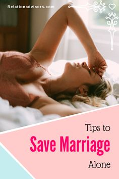 Are you trying to save your marriage alone? Read some golden tips about how to save your marriage when only one is trying Relationship Advice Quotes, Best Marriage Advice, Saving Your Marriage, Save My Marriage, Marriage Relationship, Happy Relationships, Want You Back Quotes, Christian Divorce, Life Hacks