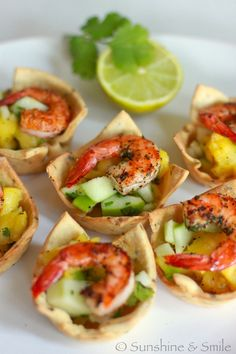Shrimp Salad in a Savory Cup | Playful Cooking