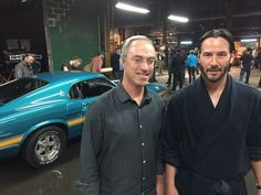 Keanu on the set of JOHN WICK 2 March 4, 2016 John Wick II – Keanu Reeves, Gill Haas & Scott Martin's 1970 Shelby GT500 Thank you so much to Gill Haas and Power Portal Products ! (picture 1 my edit)