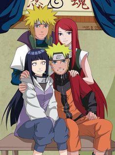 Minato, Kushina, Hinata, Naruto