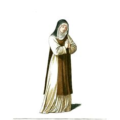 Medieval_Nun_or_Woman_in_Religious_Clothing_(1).JPG (700×700)