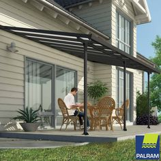 Palram Feria 3 Veranda Patio Cover in Grey, 3 x 5.46m | Costco UK