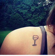 Wine glass tattoo.