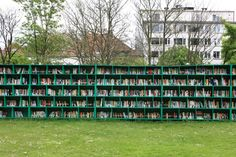 I personally haven't visited a library in longer than I care to say, but if I happened upon this public outdoor library installed in the middle of a Belgian vineyard I would be tempted to grab a cork screw and picnic blanket to make a day of it. The outdoor library entitled Bookyard w