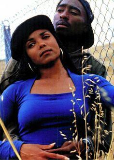 "Tupac Shakur and Janet Jackson in ""Poetic Justice"" 2pac, Tupac Shakur, Janet Jackson Poetic Justice, Black Love Movies, Jo Jackson, Michael Jackson, Tupac Makaveli, Tupac Pictures, Hip Hop And R&b"