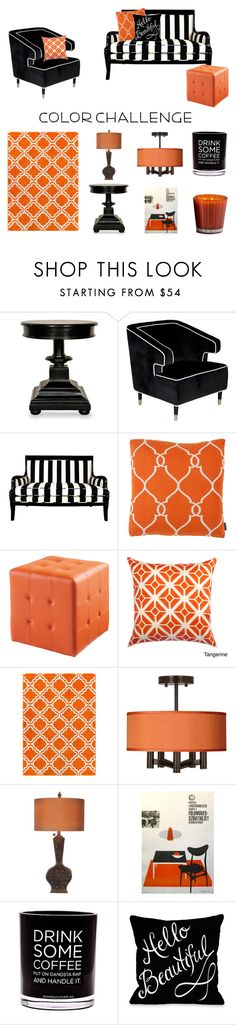 """""""Not just for Halloween..."""" by modgirl71 ❤ liked on Polyvore featuring interior, interiors, interior design, home, home decor, interior decorating, Noir, Worlds Away, Eichholtz and Sunpan"""