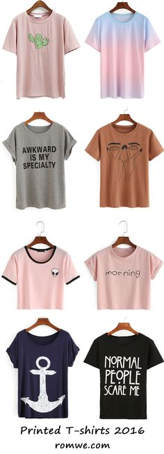 Fall Street Style - printed t shirts from romwe.com