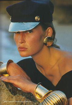 Estelle Lefebure. ELLE Mars 1989