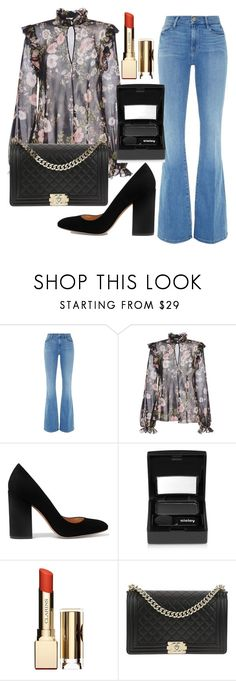 """Untitled #448"" by ngkhhuynstyle ❤ liked on Polyvore featuring Frame, Giambattista Valli, Gianvito Rossi, Sisley, Clarins and Chanel"