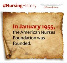 In January of 1955, the American Nurses Foundation was established by @ANANursingWorld. Happy anniversary!!