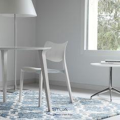 STUA Laclasica chair in white, the color of light design.