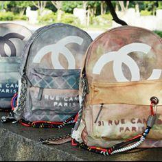 Chanel Graffiti Backpack6-38-44-1-1-1