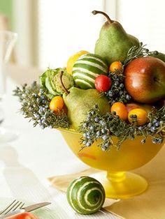 Mixed fruit centerpiece. Beautiful!