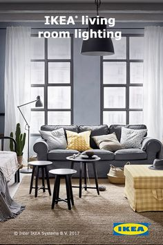 When choosing lighting for your living room, keep in mind what your family uses the room for. IKEA floor lamps are great for curling up on the couch with a book, and ceiling lights will light up the entire room and show off your style. Click to browse IKEA living room lighting options.