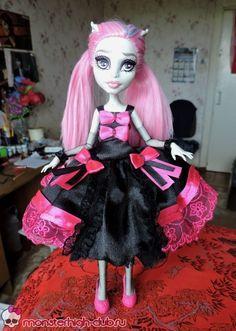 Нарядное платье с элементами лоли-стиля для куколки Monster High | Monster High Club