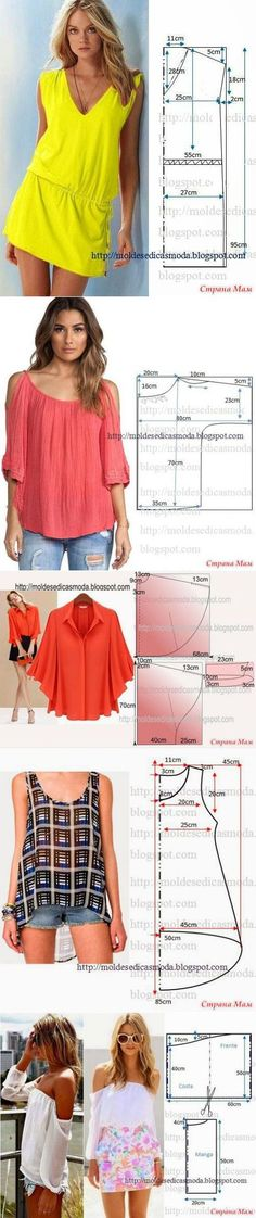 66 ideas for sewing clothes couture shirts Sewing Patterns Free, Sewing Tutorials, Clothing Patterns, Dress Patterns, Dress Tutorials, Sewing Projects, Diy Clothing, Sewing Clothes, Dress Sewing