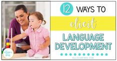 Stimulate language skills in toddlers and children! Use these 12 strategies to elicit language development - at home, school, and more. Speech Therapy Activities, Preschool Activities, Autism Resources, Language Development, Three Year Olds, Communication Skills, New Words, Speech And Language, Vocabulary