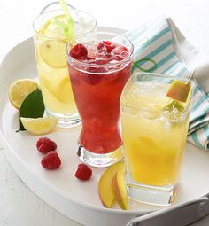 This scratch-made lemonade is perfect to quench those summer thirsts with its tart, sweet and cold refreshment. Try our three variations below!