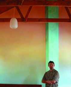 Lazure work by Charles ANDRADE at the Titerangi  Steiner School,  Titerangi, New Zealand