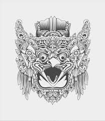 Rakhmat Tri Basuki a.a Gepeng Njawani provides fresh air in Indonesian contemporary graphic design's world with his ability to infuse icons and values from Mayan Tattoos, God Tattoos, Thailand Tattoo, Thailand Art, Tattoo Sketches, Tattoo Drawings, Art Drawings, Dragon Rouge, Graphic Design Tattoos