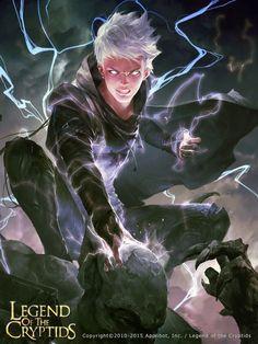 Artist: Xu Cheng aka crowgod - Title: purple lightning02 - Card: Reylon, Living Spark (Surge Blast)