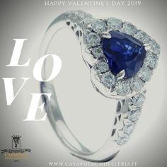 3834ba5c15 Anello con zaffiro taglio cuore certificato IGI Anversa e diamanti  realizzato dalla Gioielleria Casavola di Noci