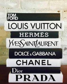 DESIGNER BOOK SET 8 Books Coco Chanel Book Tom Ford Louis