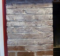 How to Whitewash Brick - Just mix the paint with water - about 50/50. Then grab an old paint brush and a rag. Then paint and wipe down until you achieve the look you like.