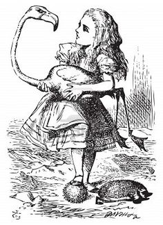 Alice trying to play croquet
