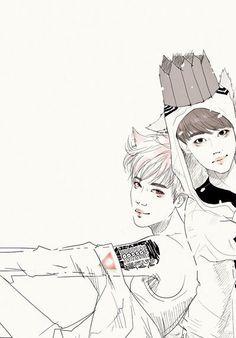 Kaisoo #Fanart #EXO